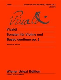 Sonatas For Violin And (Cello) Basso Continuo Op. 2  (Wiener Urtext)