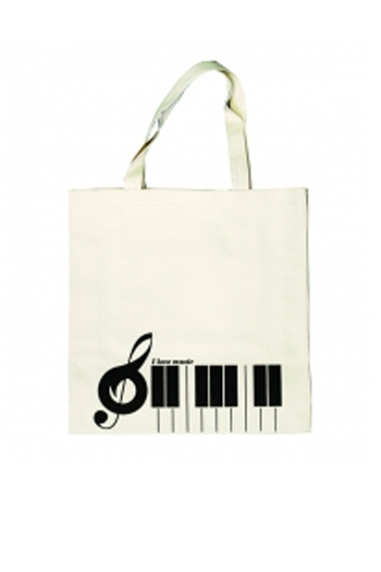 Tote Bag - Keyboard Cream Canvas