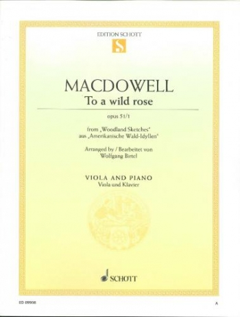 To A Wild Rose: Op51 No1: Viola & Piano