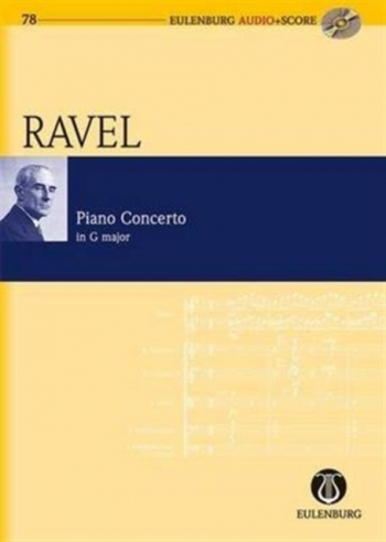 Piano Concerto In G Major: Miniature Score & Cd (Audio Series No 78)