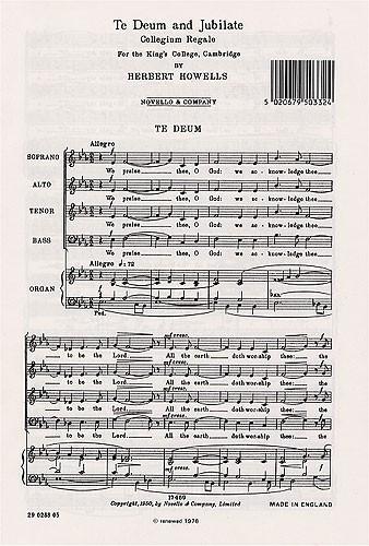 Te Deum And Jubilate Deo (Collegium Regale): Vocal SATB