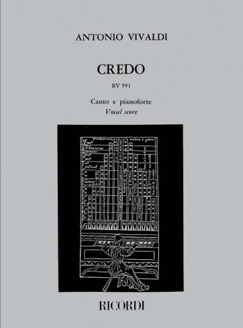 Credo Rv591 Vocal Score  (Ricordi)