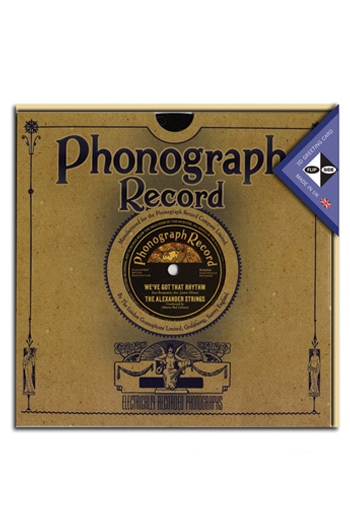 Gift- Card Flip Side 3D Record Card - Phonograph Record