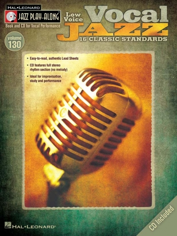 Jazz Play Along Vol.130: Vocal Jazz Low  Voice: Bk&Cd
