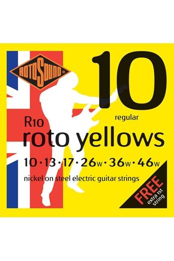 Roto Yellow Regular Electric Guitar