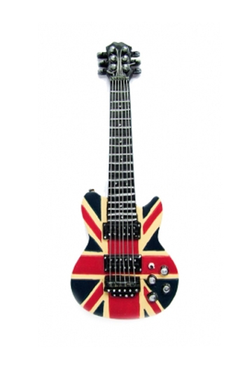 Fridge Magnet Union Jack Guitar