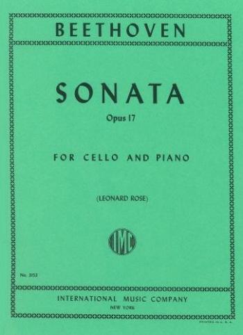 Cello Sonata F Op.17 Cello & Piano (International)