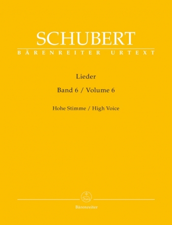 Lieder Songs Vol 6 : High Voice & Piano