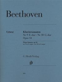 Piano Sonata E Major No 9 & G Major No10 & Op14: Piano  (Henle