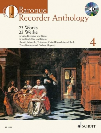 Baroque Recorder Anthology: Vol.4: 23 Works: Recorder: Book And CD