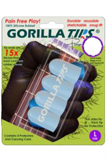 Gorilla Tips Finger Protectors - Large & Clear