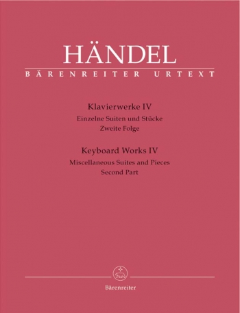 Keyboard Works IV: Miscellaneous Suites And Pieces 2 : Piano (Barenreiter)