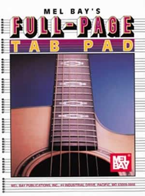 Manuscript Guitar Tablature Pad Full Page - Mel Bay