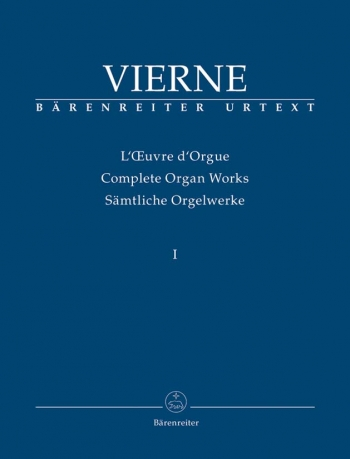 Complete Organ Works: Vol 1: First Symphony (Barenreiter)