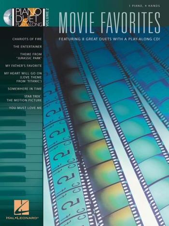 Piano Duet Play-Along Volume 2: Movie Favourites Book & CD