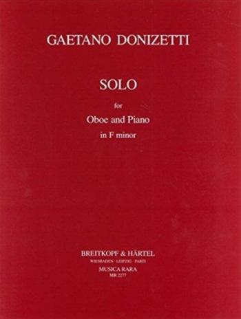Solo In F Minor: Oboe And Piano (Breitkopf)