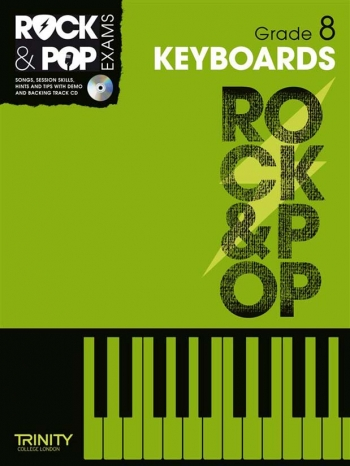 Rock & Pop Exams: Keyboard Grade 8 Book & Cd (Trinity)