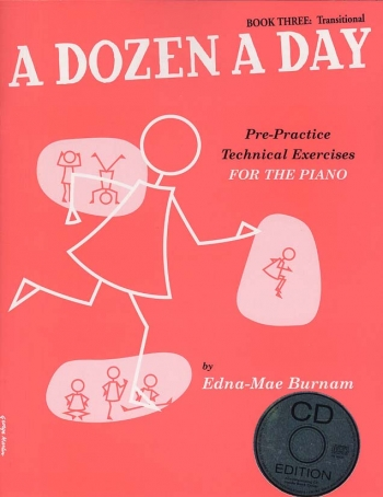A Dozen A Day Book 3 Transitional: Piano Studies: Book And Cd