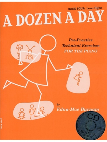 A Dozen A Day Book 4 Lower Higher: Piano Studies: Book And Cd