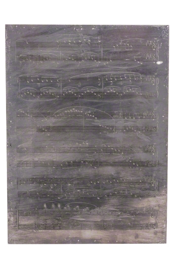 Henle Original Music Engraving Plate