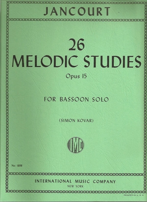 26 Melodic Studies For Bassoon: OP15 (International)