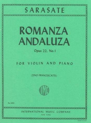 Romanza Andaluza OP22 No 1: Violin & Piano