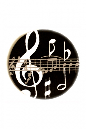 Mugmats Black Music Notes Coasters