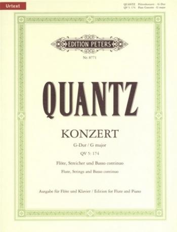Concerto G Major: QV5: 174: Flute & Piano (Peters)