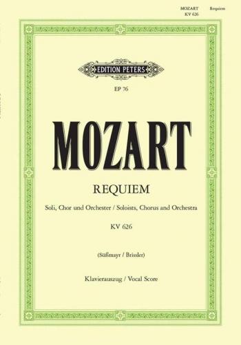 Requiem: K626: Vocal Score  (Peters)