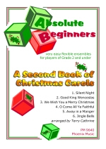Absolute Beginners: Second Book Of Christmas Carols: Very Easy Flex Ensemble: Sc&Pts