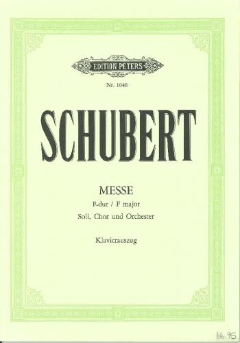 Schubert: Mass In F Major: With Second Version Of Dona Nobis: Vocal Score