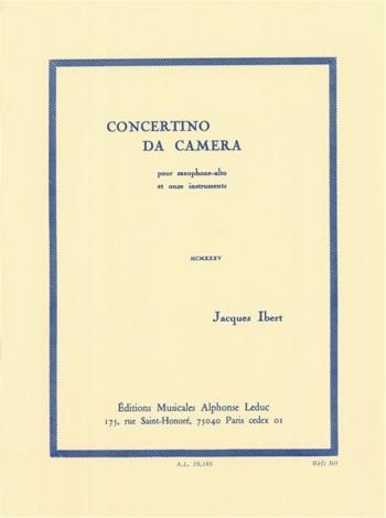 Concertino Da Camera: Alto Saxophone (Leduc)