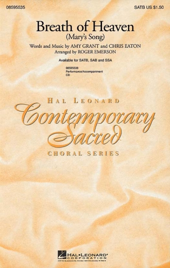Breath Of Heaven (Marys Song): Vocal SATB