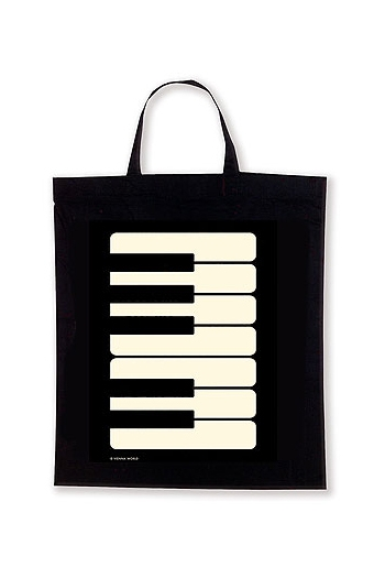 Black Keyboard Tote Bag