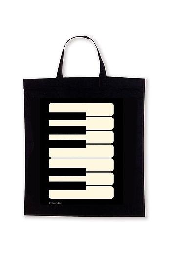 Black Keyboard Tote Bag