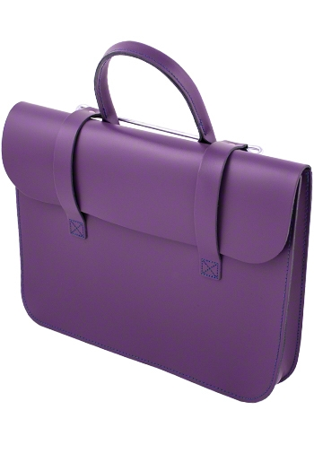 Leather Academy Pattern Music Case - Purple