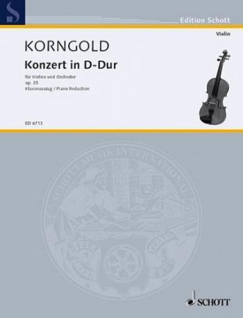 Concerto D Major Op35: Miniature Score