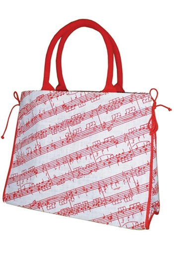 Jute Bag - Sheet Music Pink Notes