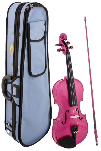 Stentor Harlequin Raspberry Pink Violin Outfit  Various Sizes