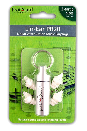 ProGuard Hearing Protectors: Ear Plugs: Lin Ear PR20 ( 2 Eartip Sizes)