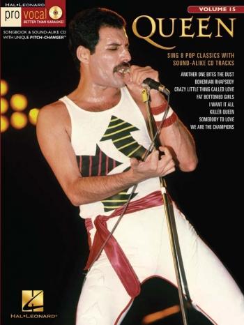 Pro Vocal: Queen: Sing 8 Pop Classics: Vol 15: Top Line  & Chords: Bk&Cd
