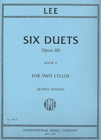 Lee: 6 Duets Op60: Book 2: Two Cellos (IMC)