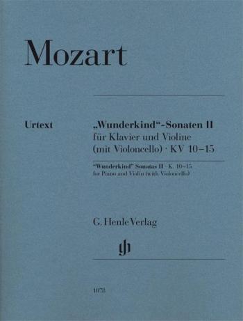 Sonatas: Vol 2: Wunderkind: KV10-15: Violin & Piano