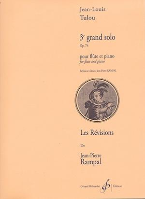 Grand Solo No.3 Op.74: Flute & Piano (Billaudot)