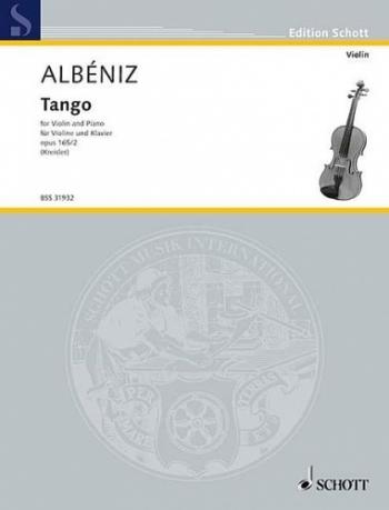 Tango Op.165/2 (Espana)  Violin & Piano Arr Kreisler (Schott)