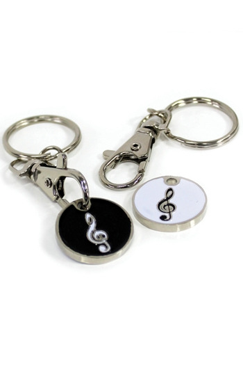 Key Ring Trolley Token: Treble Clef Design