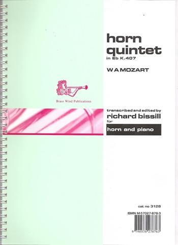 Horn Quintet In Eb: K407: Eb Tenor Horn & Piano