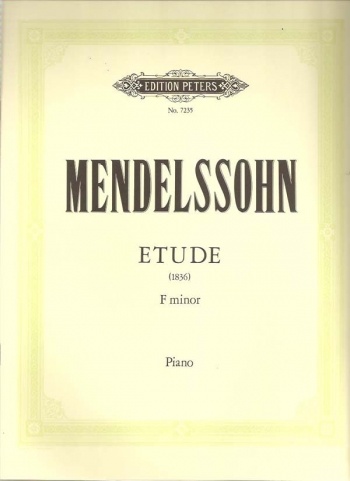Etude (1836): F Minor: Piano (Peters)