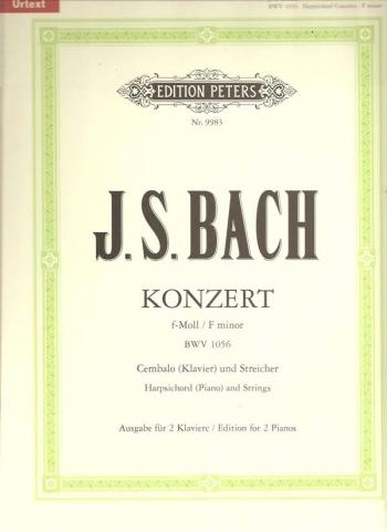 Concerto: F Minor: BWV1056: Piano Duet (Peters)
