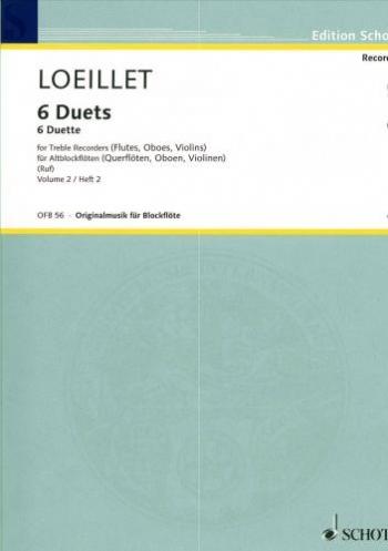 Six Duets: Vol 2: Treble Recorder